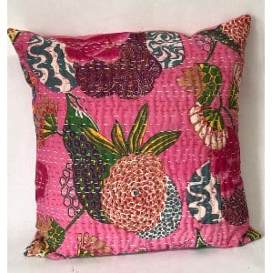 PINK STITCH QUILTED PILLOW