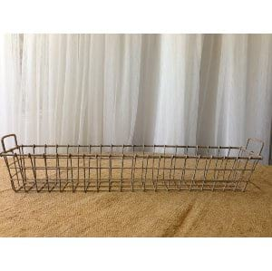 Vintage Long Wire Basket