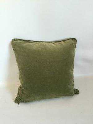 Green Velveteen Pillow