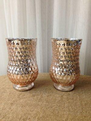 Pink Mercury Glass Vases