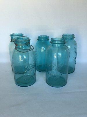 Aqua Mason Jars 1/2 gal. size