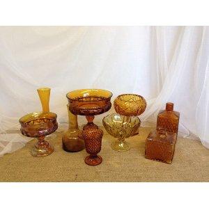 Amber Gold Glass