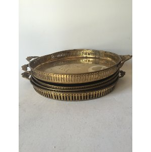 Brass tray with handles   11'