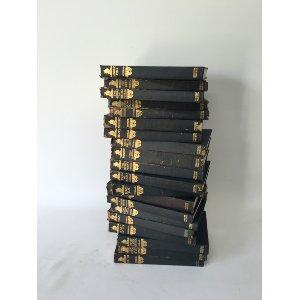 VINTAGE BLACK AND GOLD BOOKS