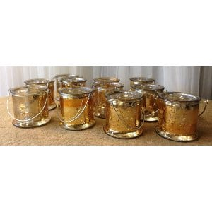 Gold Mercury Glass Hanging Vases/votives