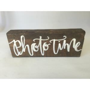 Photo Time Block Sign