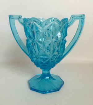 Aqua blue vase