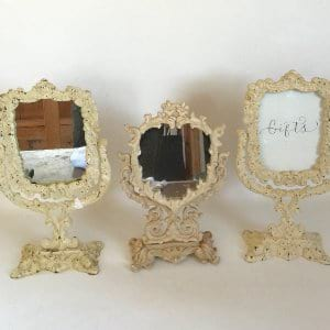 cream standing frames