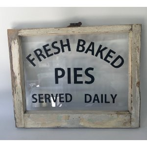 SAWYER WINDOW PIE SIGN