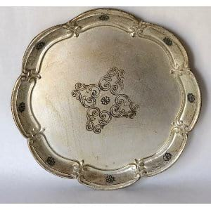 SIlver florentine style tray