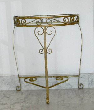 Metal Half Table