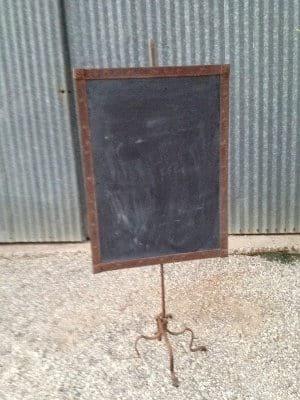 Iron framed chalkboard