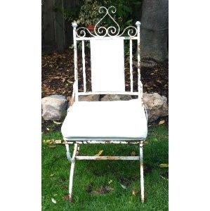 CASE white wrought iron chair