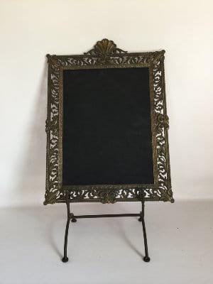 Brass Frame on Stand