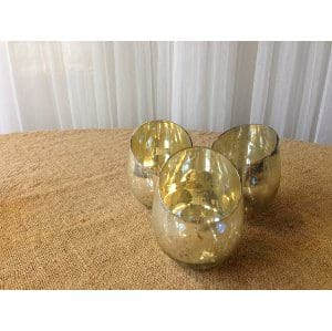 Short Mercury Glass Vases
