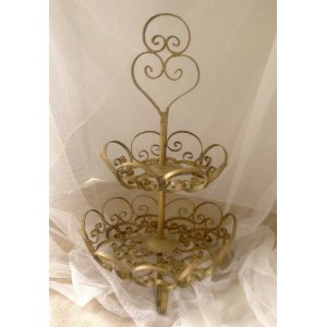 Gold Tiered Tray