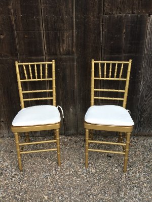 Germaine Gold Chivari Chairs