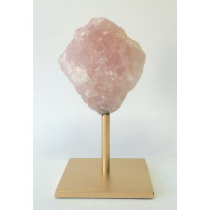 CAMILE CRYSTAL PINK CRYSTAL ROCK ON STAND