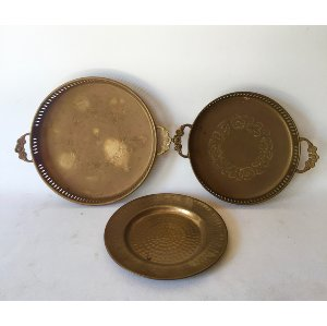 Brass tray  small    8