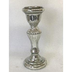 mercury glass candlestick