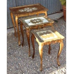 TALIA GOLD NESTING TABLE SET