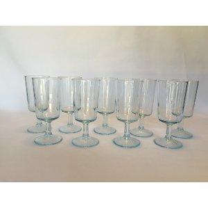 pale blue glassware