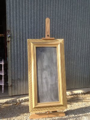 FRASER Large Gold Framed Chalkboard
