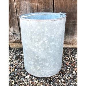 BAKER TALL GALVANIZED BUCKET