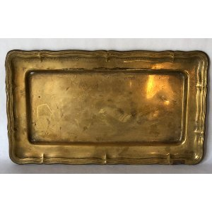 Large brass tray for ottoman