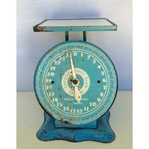 Cute Blue Vintage Scale