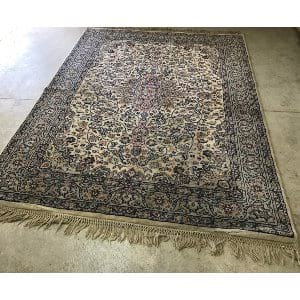 ROXANNE BLUE AND GRAY WOOL RUG