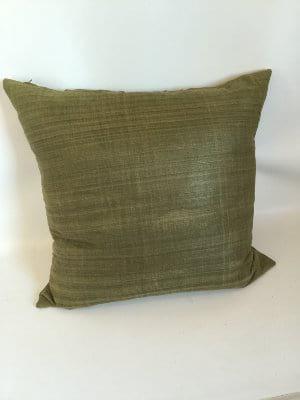 Green Silk Pillow