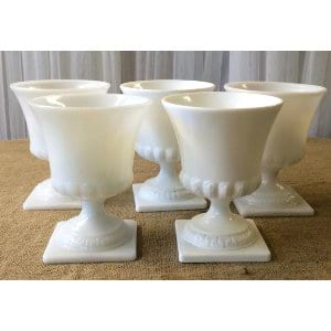 milk glass vases