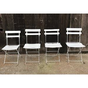 COSTELLO WHITE FOLDING FRENCH CHAIR