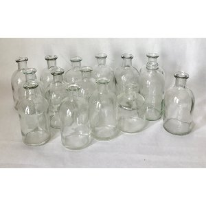 Glass vases small round