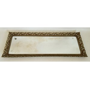 Long Gold Rectangle Mirrored Tray