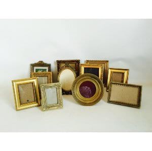 Small Gold Frames 3 x5