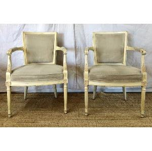 Gray and cream side chair