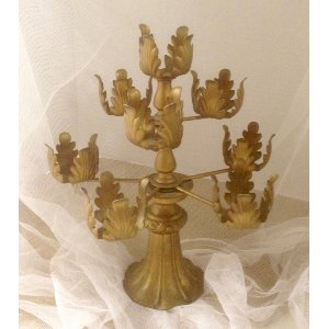 gold votive candle stand