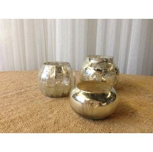 Mercury Glass large votives