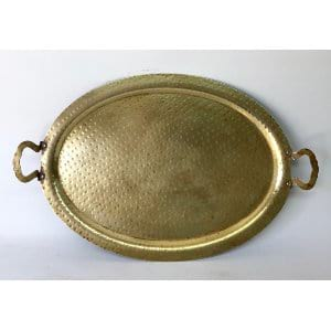 Hammered Brass tray  20