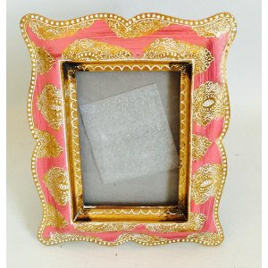 Small Gold and fushia Frame