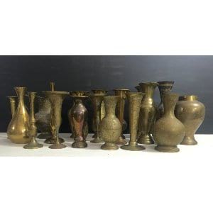 Medium size brass vases