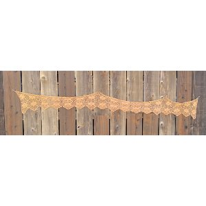 Tan crochet trim