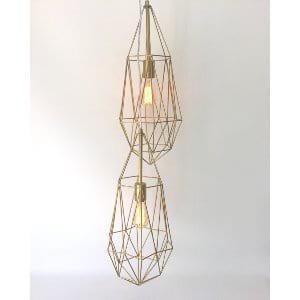 Geometric hanging light set