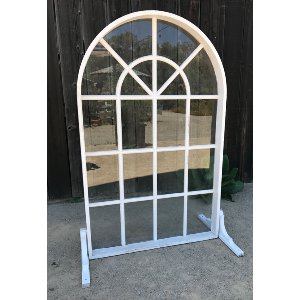 White arched window