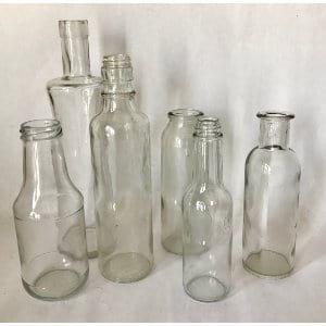 Misc size glass bottles