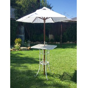 Cocktail table with umbrella