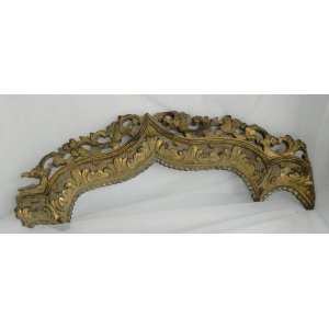 Ornate gold wood piece