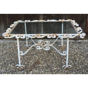 Walker Small White Iron Coffee Table